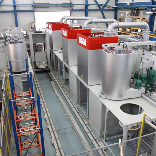 preheating furnace / tempering / quenching / carburizing