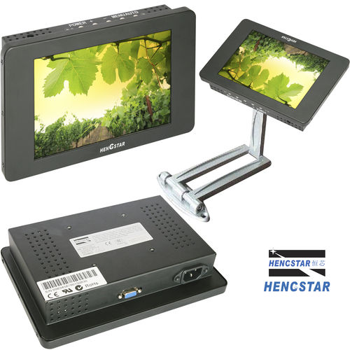 Resistive touch screen monitor / LCD/TFT / 800 x 600 / panel HSIM-V0840 Shenzhen Hengstar Technology Co., Ltd.