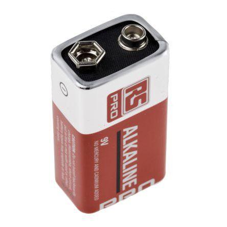 alkaline battery / PP3 / non-rechargeable / industrial