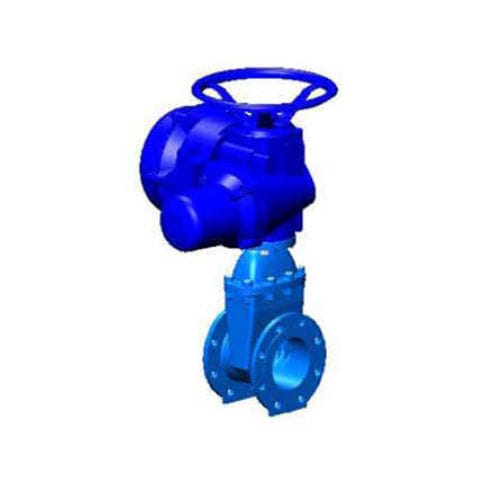 Gate valve / electrically-actuated / for water / flange VOC-04 series TECOFI