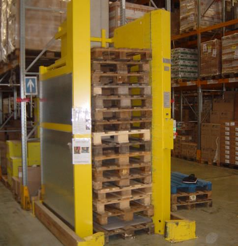 vertical automatic storage system / for empty pallets / for warehouses