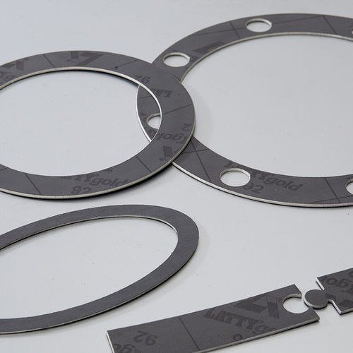 graphite gasket sheet / aramid / for chemical applications / for the petrochemical industry