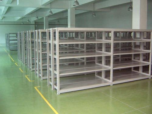 storage warehouse shelving / for medium loads / medium-duty / adjustable