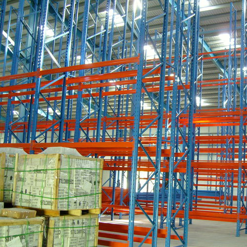 pallet shelving / storage warehouse / for heavy loads / medium-duty
