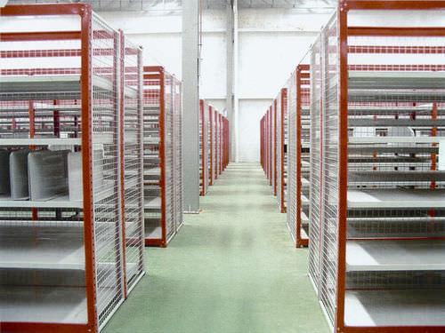 Storage warehouse shelving / light-duty / medium-duty / single-sided ISO9001, ISO14001   UN-MS0804 Jiangsu Union Logistics System Engineering Co.,Ltd