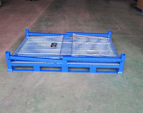 steel pallet box / wire mesh / storage / folding