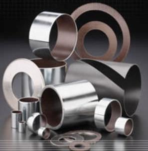 metal plain bearing / self-lubricating / dry / thin-walled