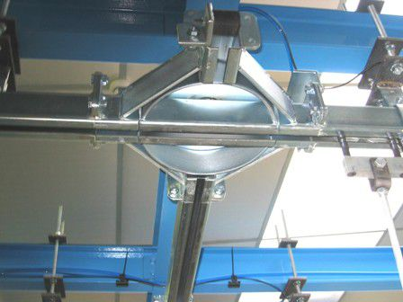 stainless steel conveyor / horizontal / for materials handling / monorail