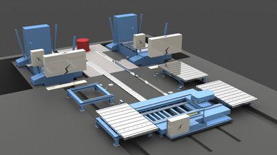 handling cart / press tool / rail-mounted