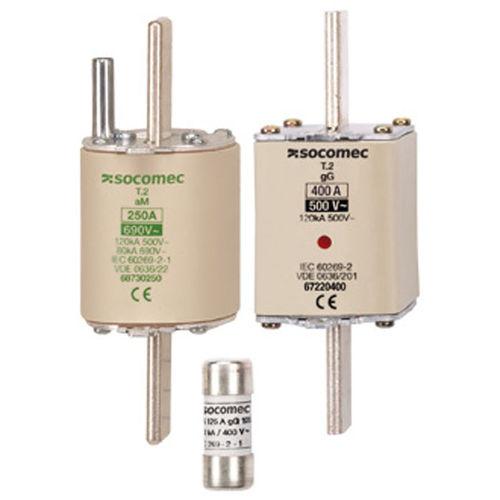 NH fuse / Class gG / Class aM / low-voltage Fusibles industriels, Courbes gG et aM de 0,16 à 1250 A SOCOMEC
