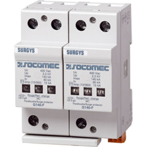 Type 1 surge arrester / DIN rail / low-voltage SURGYS G140-F SOCOMEC