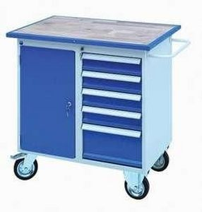 Workbench with drawer / mobile / steel LABRUCHE