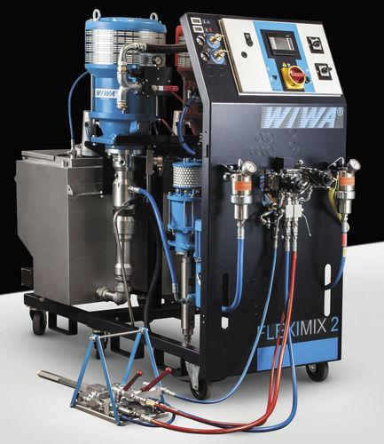 Two-component paint spray unit / pneumatic FLEXIMIX HERKULES GX WIWA