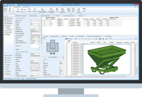 estimate software / for sheet metal