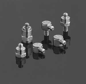 Piezoelectric accelerometer 10 pC/g, 4.5 g | A/23/E DJB INSTRUMENTS