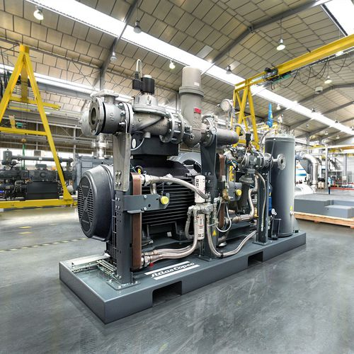 gas compressor / stationary / electrically-powered / screw