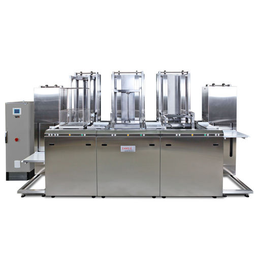 ultrasonic cleaning system / semi-automatic / for industrial applications / robust