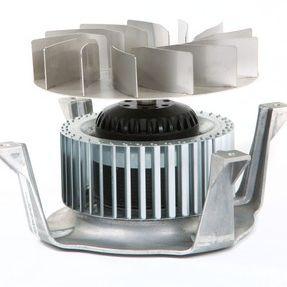 centrifugal fan / ventilation / galvanized steel / AC