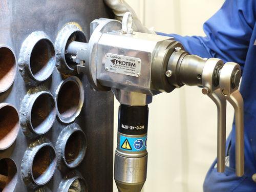 boiler tube chamfering machine / pneumatic / portable / precision