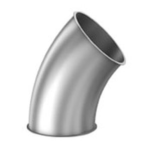 30° angle fitting / galvanized steel / stainless steel