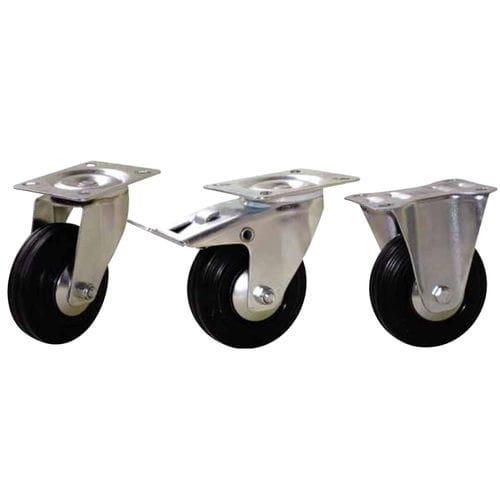 Swivel caster / base plate / steel / rubber PORT-ROLL GUITEL