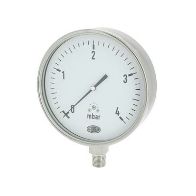 analog pressure gauge / capsule / for gas / stainless steel