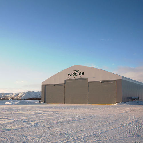 hangar door / fold-up / fabric / exterior