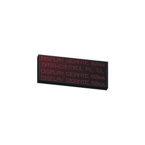 LED display / alphanumeric / large-format / programmable