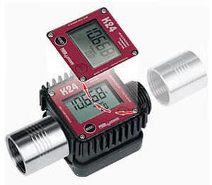 turbine flow meter / for liquids / digital / in-line