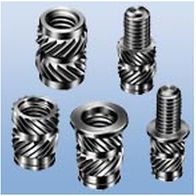 threaded insert / round / for plastics / for thermoplastics