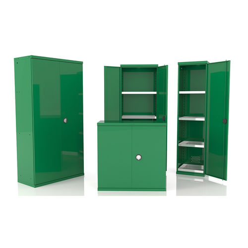 workshop cabinet / floor-mounted / hinged door / double-door