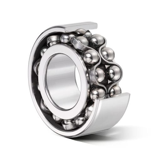 ball bearing / double-row / angular-contact / stainless steel