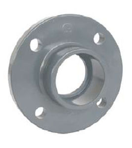 pipe flange / plastic / through-hole / flanged