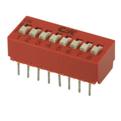 Slide switch / single-pole / flame-retardant / DIP BD series C&K Components