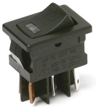 Rocker switch / single-pole / miniature / illuminated DM C&K Components