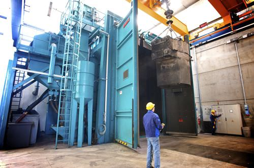 hook shot blasting machine / for profiles
