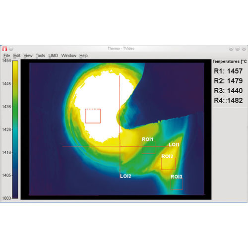 image analysis software / combustion process / for thermal imaging / online