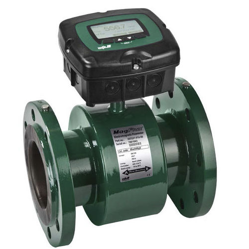 electromagnetic flow meter / for water / with LCD display / flange