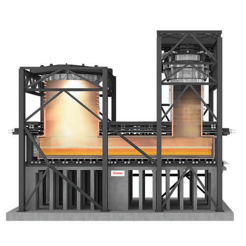 remelting furnace / continuous / for metallurgy / for non-ferrous metals