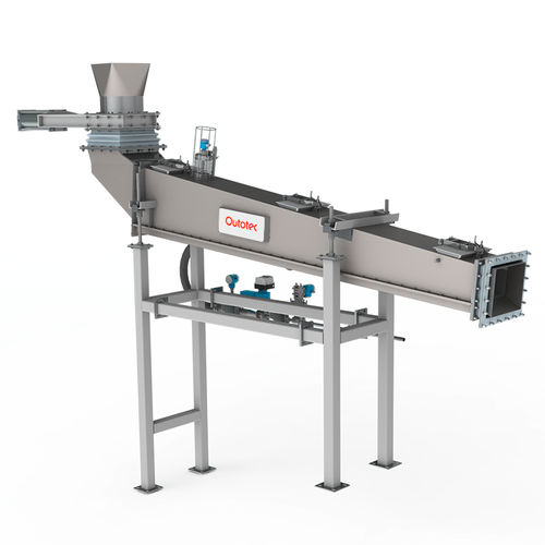 feeding conveyor / air-operated / screw / for the metallurgical industry