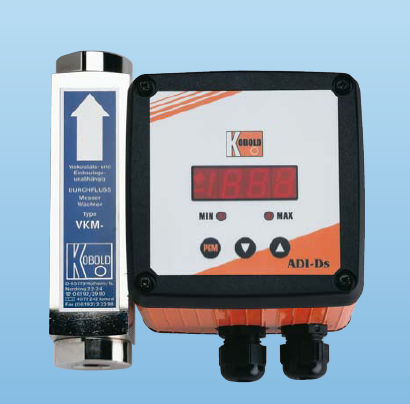 Variable-area flow meter / viscosity-compensated / for air / in-line 8 - 80 l/min | VKM  KOBOLD Messring GmbH