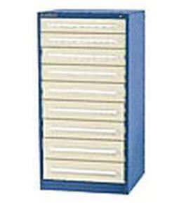 storage cabinet / free-standing / multi-drawer / metal