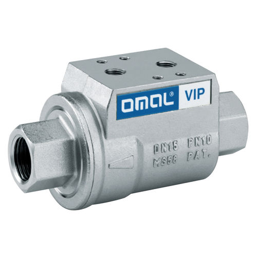 coaxial valve / plunger / pneumatically-operated / blocking