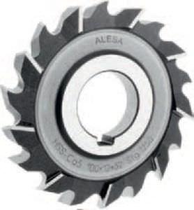 interlocked side milling cutter / solid / slot / high-speed steel