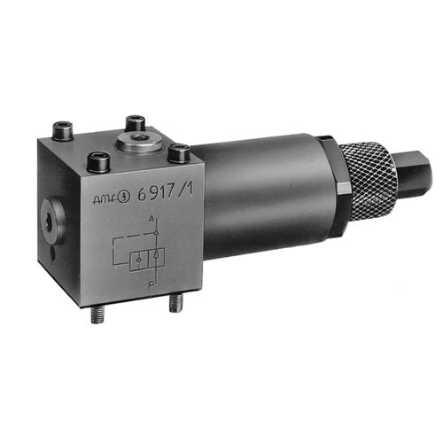 piston valve / hydraulically-operated / pressure-reducing / stop