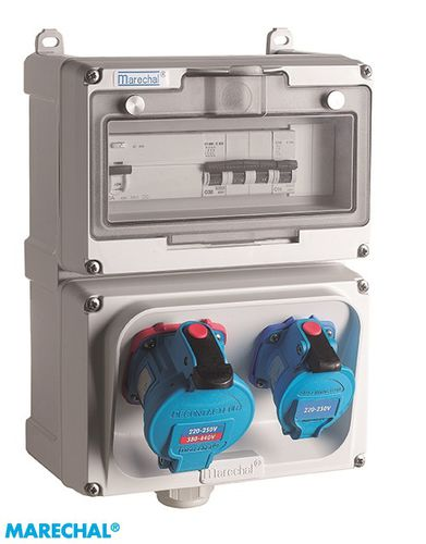 equipped electrical enclosure / modular / polyester / circuit breaker