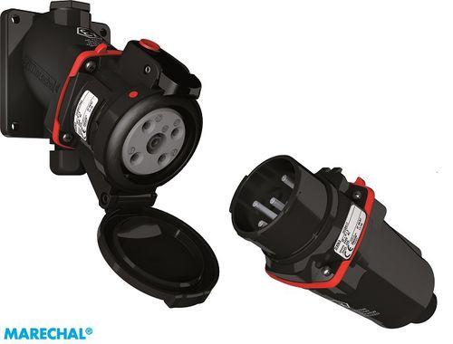 wall-mounted plug and socket / explosion-proof / IP67 / waterproof