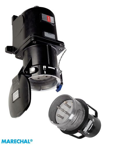 wall-mounted plug and socket / waterproof / for hazardous areas