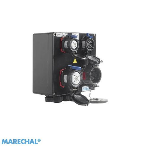 equipped electrical enclosure / modular / polyester / power distribution