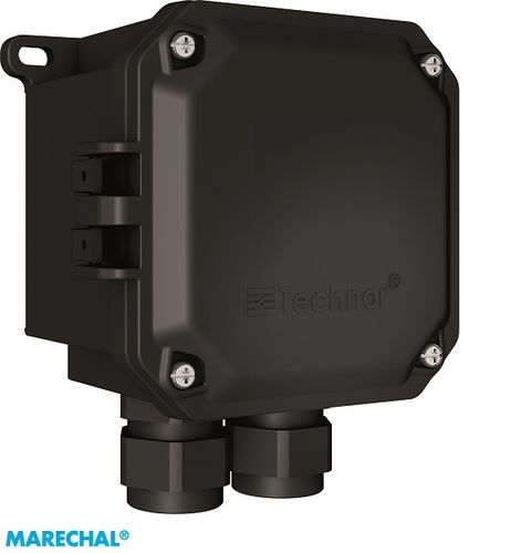 wall-mounted terminal box / explosion-proof / waterproof / glass fiber-reinforced polyester